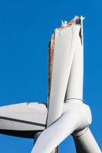 Flügel gebrochen am Windrad
