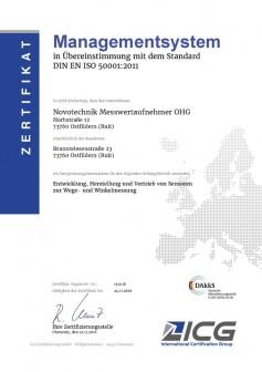Novotechnik zertifikat